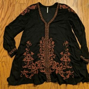 Free People Embroidered Peasant Style Tunic